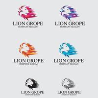 modèle de vecteur de conception de logo de lion