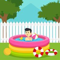 Vecteur de Inflatables de piscine