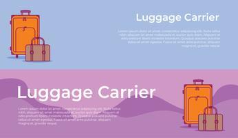 Banderole de transporteur de bagage vecteur