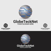 globe tech net logo design template vecteur