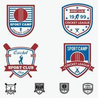 insignes de logo de club de cricket modèles de conception de vecteur
