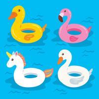 Vecteur de Flotteurs piscine gonflable piscine