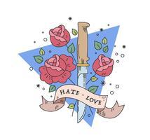 vecteur de dague de roses
