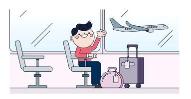 Vecteur de l'aéroport