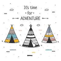 Temps pour le vecteur d'aventure