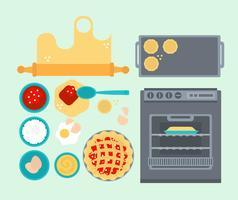 Vector Illustration de cuisson Essentials