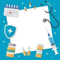 illustration vectorielle de vaccin fond vecteur