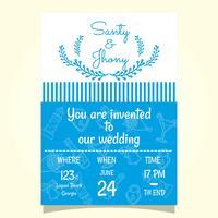 Invitation de mariage de plage vecteur