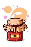 illustration vectorielle de confiture de miel vecteur