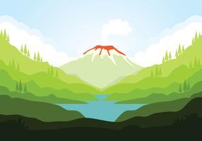 Vecteur de volcan