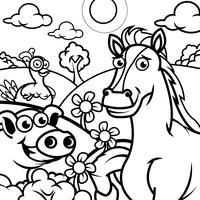 Livre à colorier Animaux