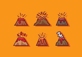 Vecteur d'icône de volcan