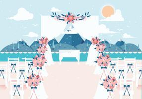 Vecteur de décoration de mariage de plage