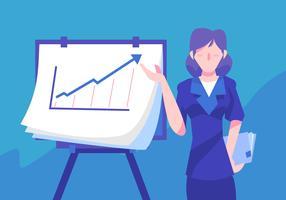 Graphique de femme d'affaires vecteur