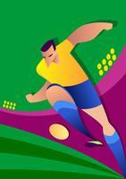Joueur de football Coupe du monde Brésil vecteur
