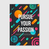Poursuivez votre livre de couverture de passion vecteur