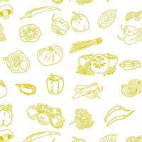 modèle sans couture de légumes dessinés à la main. vecteur libre.