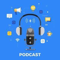 éléments de chaîne de podcast