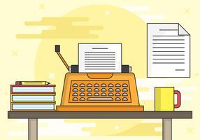 Illustration de fond de machine à écrire