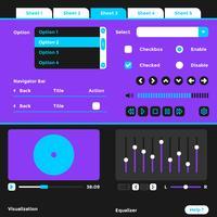 Éléments de Kit d'interface utilisateur filaire Wire Vector Template