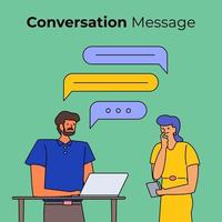 personnes ayant une conversation avec des bulles de boîte de discussion vecteur