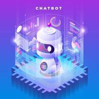 chatbot d'intelligence artificielle vecteur