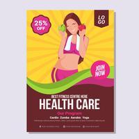 Modèle de Brochure de santé et bien-être vecteur