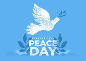 21 septembre, journée internationale de la paix vecteur