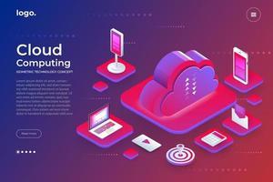 technologie de cloud computing vecteur
