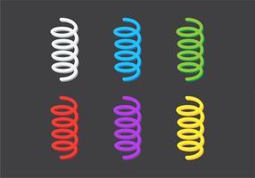 Ressort de bobine de vecteur coloré