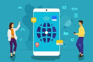 personnes travaillant ensemble pour développer une application mobile