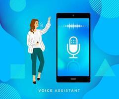 technologie vocale concept vecteur