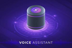assistant vocal internet des objets vecteur