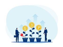 PIB ou produit intérieur brut par habitant vecteur