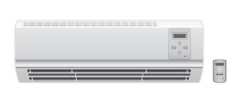 climatiseur avec télécommande vecteur