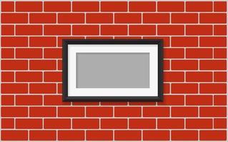 cadre photo sur le mur vecteur