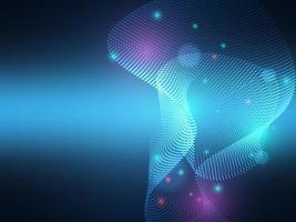 éclairage de particules abstraites, fond de technologie vecteur