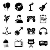 accessoires et équipements de divertissement vecteur