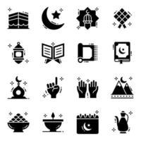 le mois sacré du ramadan vecteur