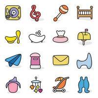 jouets en ligne et vecteurs d'accessoires pour bébé vecteur