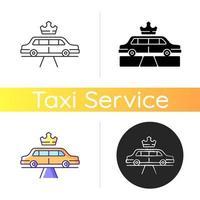 icône de service de limousine vecteur