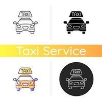 icône de vecteur de taxis