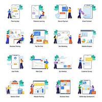 marketing d'entreprise et référencement vecteur