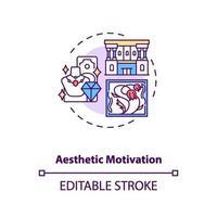 icône de concept de motivation esthétique vecteur