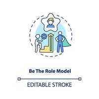être une icône de concept de modèle de rôle vecteur