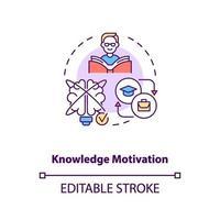 icône de concept de motivation de connaissances vecteur