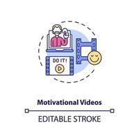 icône de concept de vidéos de motivation vecteur