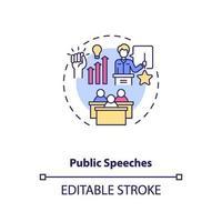 icône de concept de discours publics vecteur