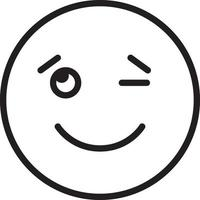 icône de ligne pour clin d'oeil vecteur