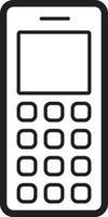 icône de ligne pour vieux téléphone portable vecteur
